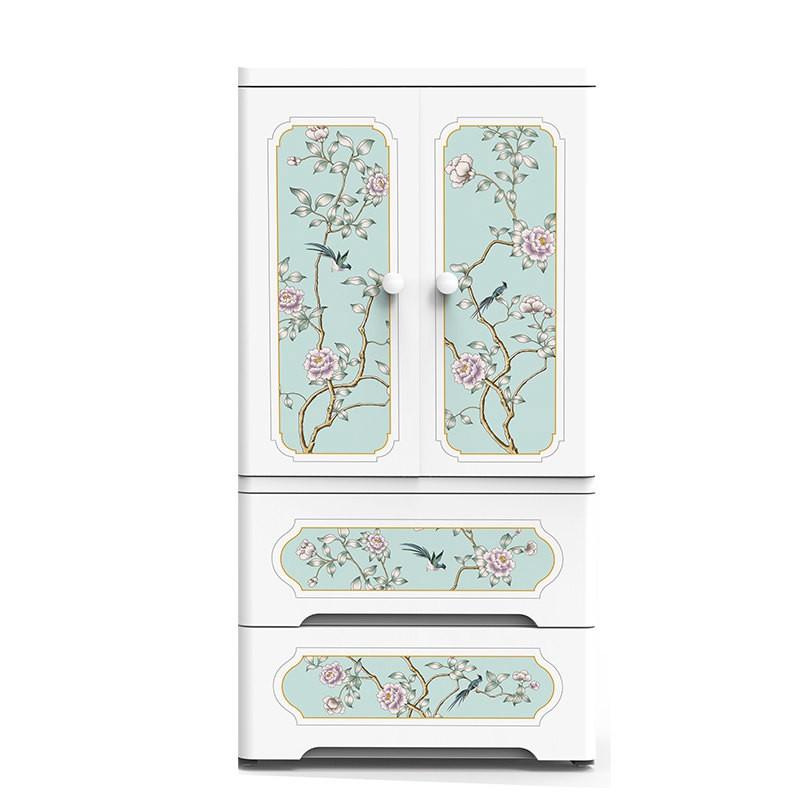 海兴也雅富贵凝香中式双开门收纳柜·咖啡色