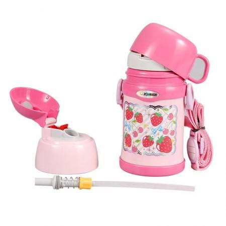象印(ZOJIRUSHI)儿童吸管双盖保温壶450mlSC-ZT45粉色