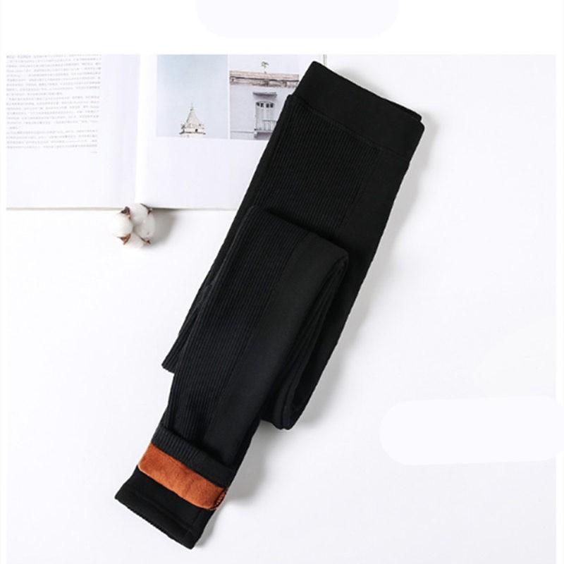 时尚拼接薄+厚打底裤两件组·黑色(厚)+黑色(薄)