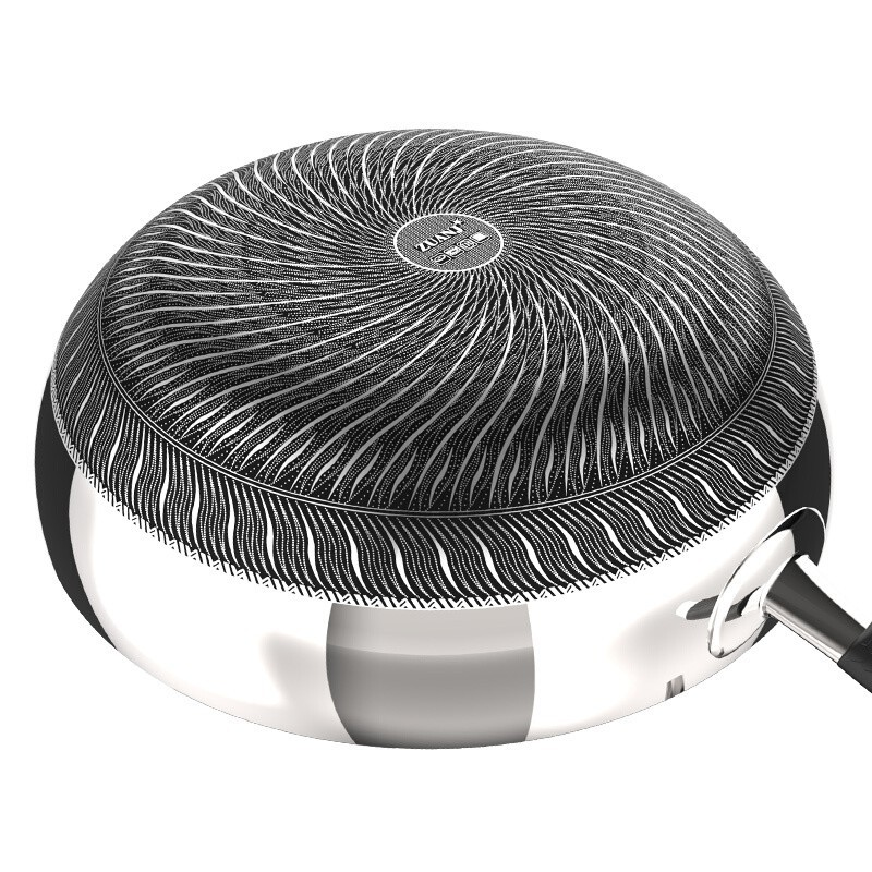 ZUANJ钻技 不锈钢炒锅+煎锅送蒸屉 清洁膏 钢铲·不锈钢色