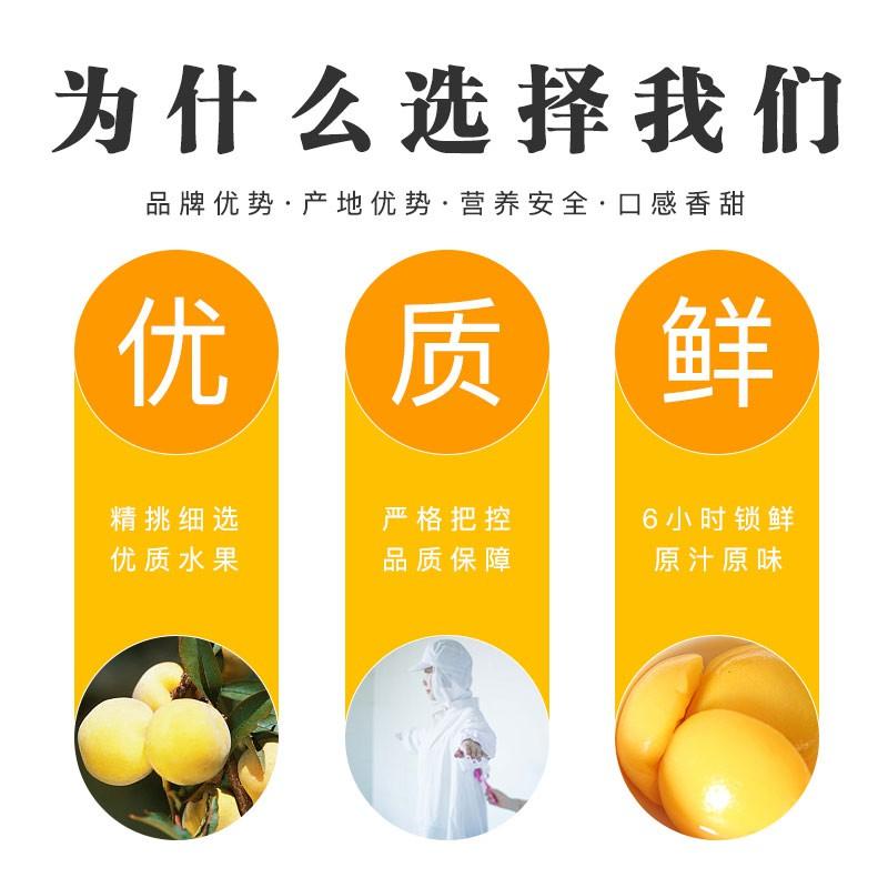 林家铺子果汁黄桃425g*12罐