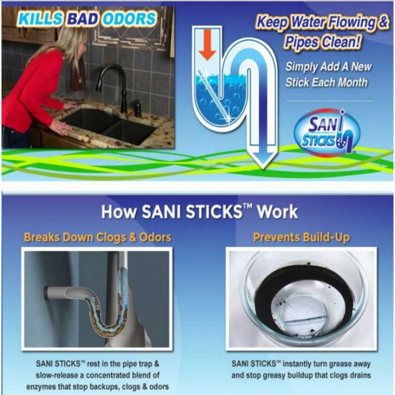 厨房神器管道疏通清洁棒万能下水道用一疏百通清洁棒*10盒