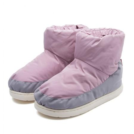 羽绒鞋冬季保暖休闲室内棉鞋情侣防滑高帮男女棉鞋·粉色