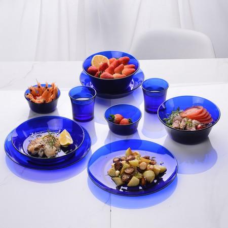 法国Duralex多莱斯 欧式餐具双人10件套·宝蓝色