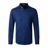 莱恩雷迪含羊毛舒适棉加厚保暖商务休闲气质格纹长袖男式衬衫964075730·蓝格