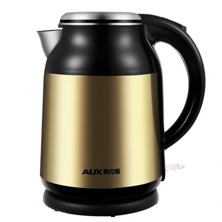 奥克斯(AUX)电水壶1.8L家用304不锈钢HX-A1808G 金色