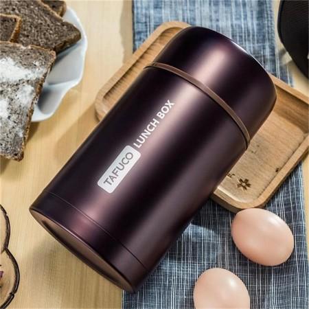 泰福高不锈钢真空焖烧罐保温粥桶1L·紫色