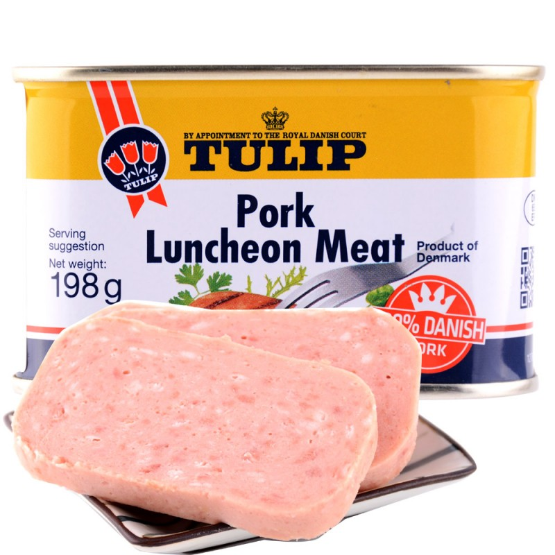 丹麦原装进口tulip经典午餐肉·198g*16盒