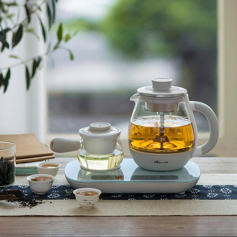 小熊(Bear)0.8L玻璃蒸汽喷淋式养生壶煮茶器ZCQ-A08E1