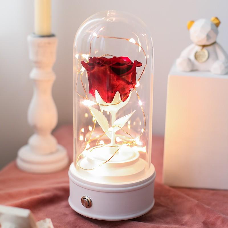 蔷薇花开 roseamor厄瓜多尔玫瑰王子蓝牙音乐盒(送礼盒)·进口玫瑰红色