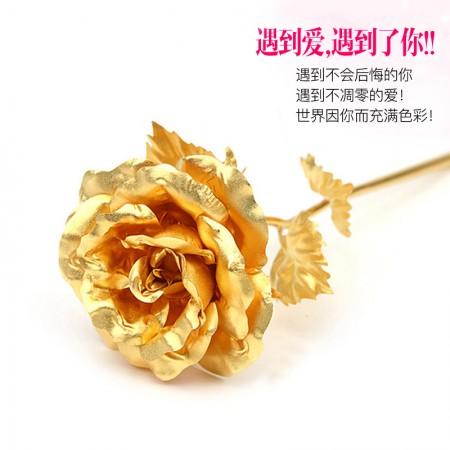 老冯记正品金箔玫瑰花2.14情人节送礼必备(大号/加厚品质好)