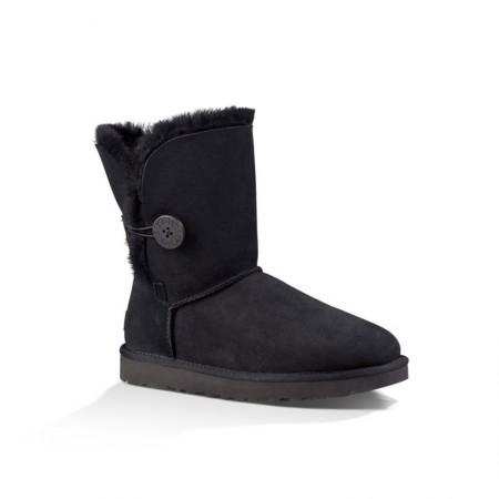 美国UGG Angelababy代言休闲经典款中筒靴雪地靴·纽扣黑色