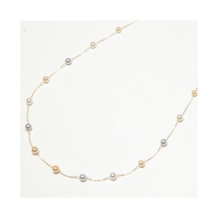 Vermeer 14K金日本AKOYA海水珍珠项链3mm (8325)