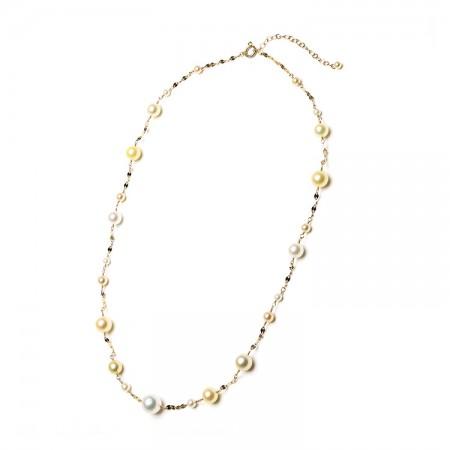 Vermeer 18K黄金AKOYA珍珠南洋珍珠项链 (5496)