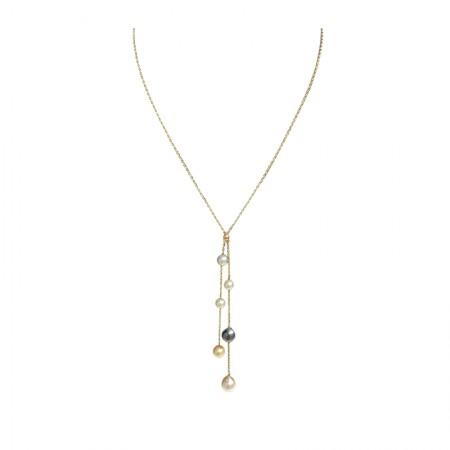 Vermeer 日本AKOYA海水珍珠大溪地海水珍珠项链 (1806)·黑白
