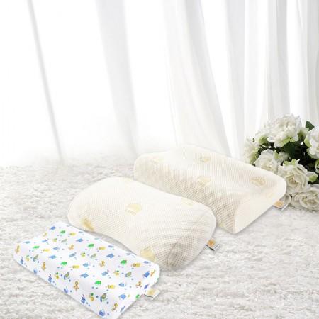 泰嗨泰国整只原装进口天然乳胶枕2+1家庭套组