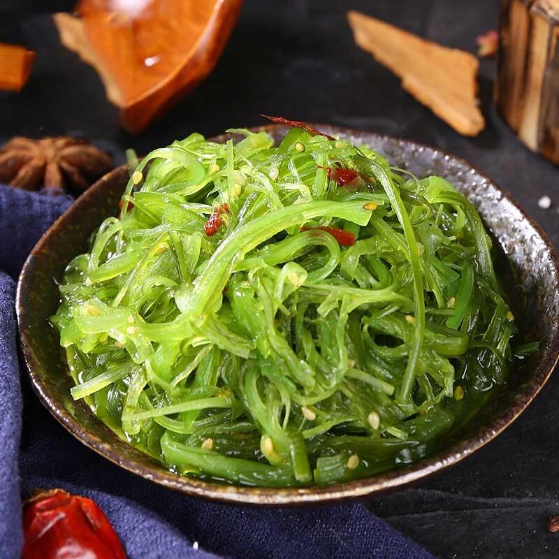 酸甜口味 即食裙带菜500g*3袋  寿司料理 海藻沙拉