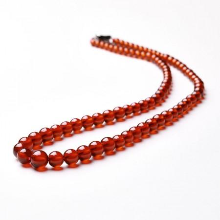 满记精选老料橙色石榴石塔链特级晶体珠直约4.5-10mm