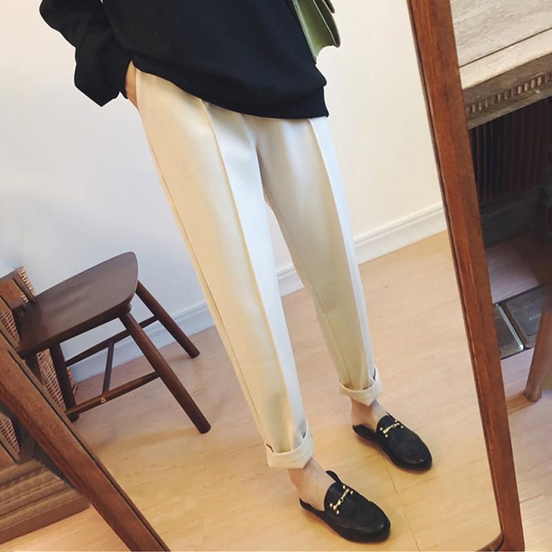 2019早春大码九分哈伦裤--经典3色!修身有型!舒适百搭!
